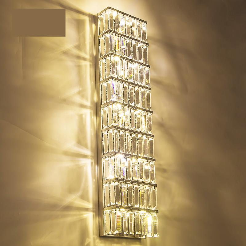 Exquisite Lighting Aliexpresscom Buy Modern Large Exquisite Crystal Lighting Parlor Tall Wall Sconce Living Room Villa Big Long Led Indoor Lamp Fixtures From I