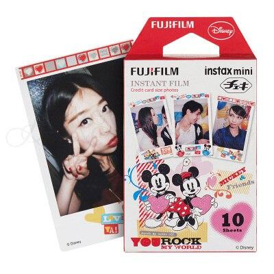 Galleria fotografica Genuine Fujifilm Fuji Instax Mini 9 Film Mickey Photo Paper 10 Sheets For 9 8 50s 7s 90 25 SP-1 SP-2 Mini Instant Cameras