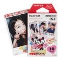 Genuino fujifilm fuji instax mini 8 película mickey foto de papel 10 hojas para 8 50 s 7 s 90 25 SP-1 Mini Instantánea Cámaras Envío Gratis