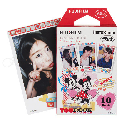 Prix pour Véritable Fujifilm Fuji Instax Mini 8 Film Mickey Photo Papier 10 Feuilles pour 8 50 s 7 s 90 25 SP-1 Mini Instantanée Caméras Livraison Gratuite