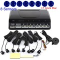 high quality Car Parking System Kit With 8 Sensors For Front And Rear Backup Reverse 44 colors option round shape sound alert