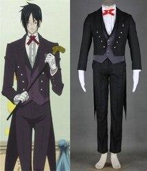 Preto mordomo kuroshitsuji sebastian uniforme cosplay traje