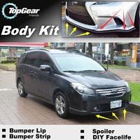 Bumper Lip Deflector Lips For Ford i Max iMax i Max Front Spoiler Skirt For TopGear Fans Car View Tuning / Body Kit / Strip