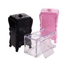 1 PC 3 Colors 8 x 7 x 15 cm Acrylic Makeup Cotton Pad Cosmetic Organizer Case Storage Box Holder Acrylic GUB#