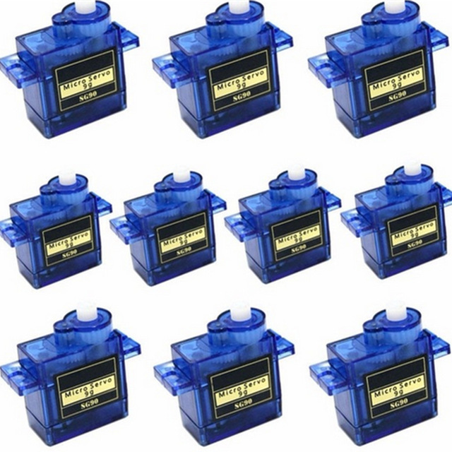 5/10pcs/lot 100% NEW Wholesale SG90 9G Micro Servo Motor For Robot 6CH RC Helicopter Airplane Controls for Arduino