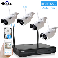 Hiseeu Wireless CCTV System 960P 4ch Powerful Wireless NVR 1TB HDD IP Camera IR CUT CCTV