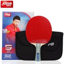 Dhs 5 estrelas 5002/5006 profissional raquete de tênis de mesa all round espinhas em borracha ping pong raquete tenis de mesa tênis de mesa