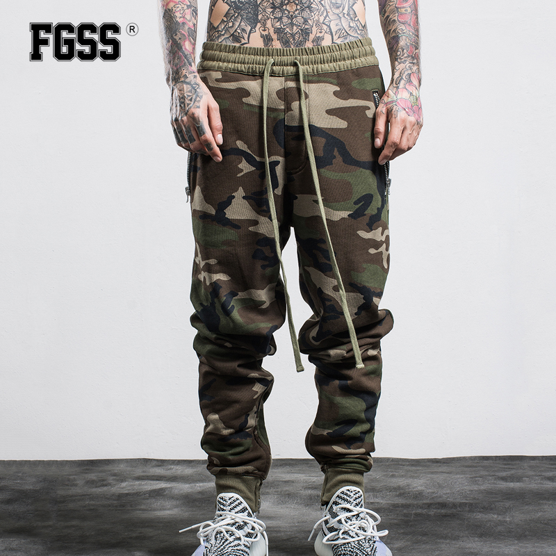 FORGIVENESS Fashion New Men Casual Cotton Pants Comfortable Solid Color Daily Wear Elastic Waist Camouflage Long Trousers C469