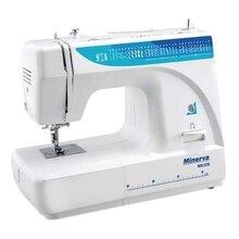 Швейная машина Minerva  M832B ( Поддержка двойной иглы, нитевдеватель, регулировка натяжения нити, 32 вида строки, регулировка длины стежка)