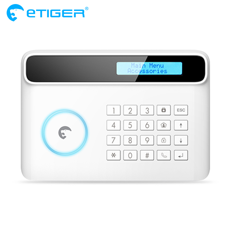 Etiger S4 eTIGER GSM/SMS Alarm System For House Anti-theft One Panel Home Alarm system etiger s3b etiger gsm sms alarm system solar power siren indoor siren ip camera super kit as same as chuango g5