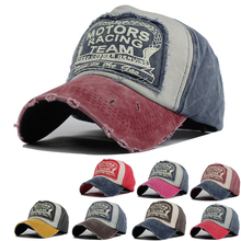 Sticking cloth Do old Patchwork Letter Baseball cap outdoors Hat