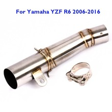 YZF R6 YZF-R6 Motorycle Exhaust Pipe Slip on System Muffler Connect Mid Link for Yamaha 2006-2016