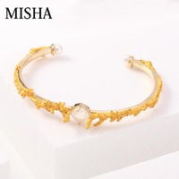 MISHA Sale Selling New Best designer Fine Jewelry Bracelets & Bangles for Women Adjustable size simulated Gem Party gift L722