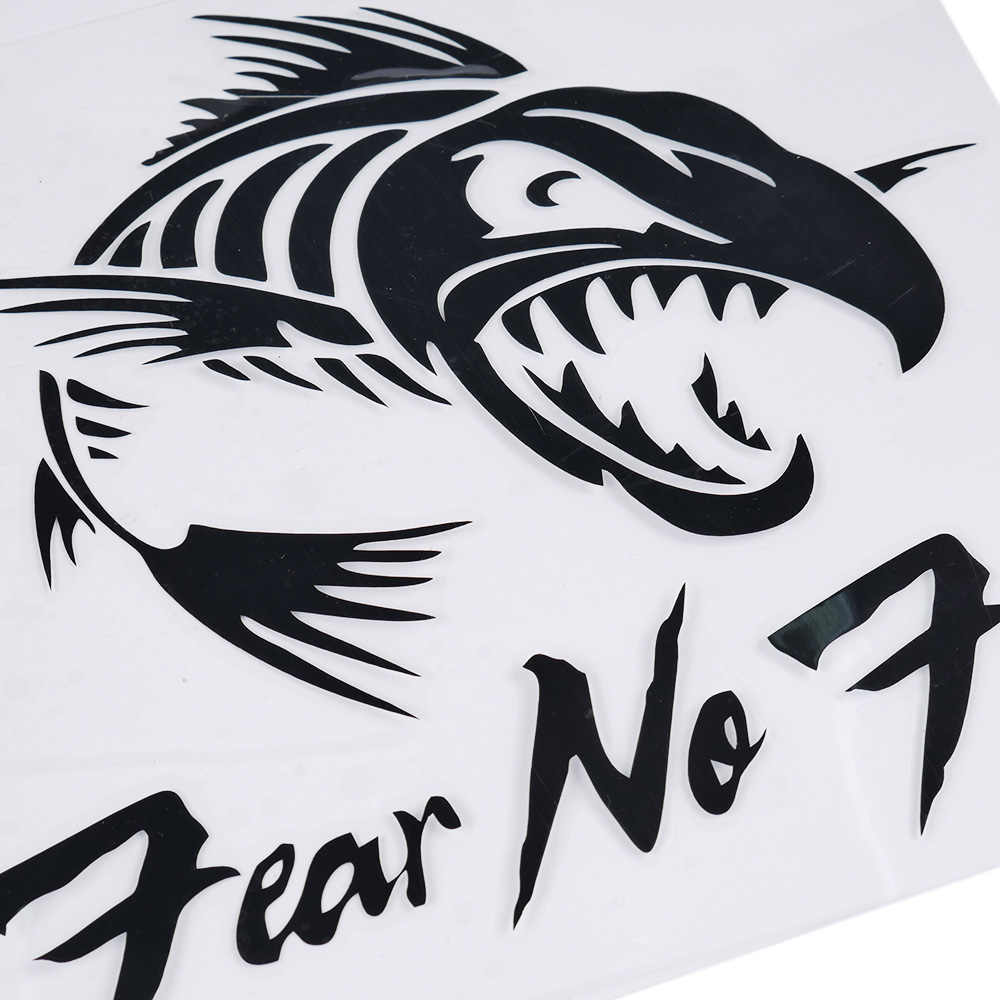 Fear No Fish Animal Sitckers Decals Vinyl Car-Styling Personality Outdoor  Fishing Car Sticker Fashion Fishing Motorcycle Decals