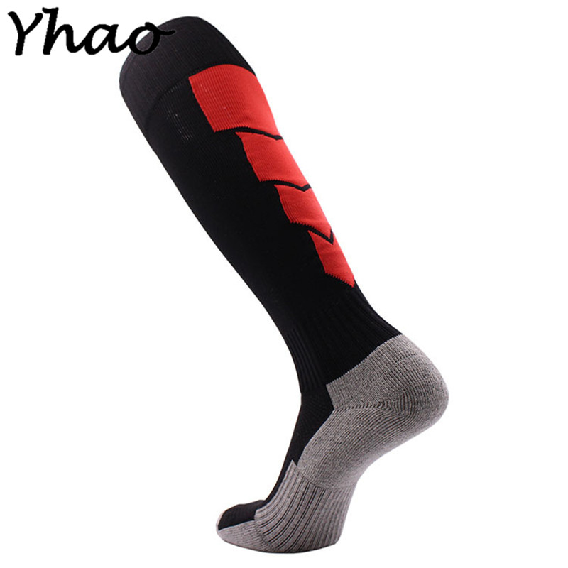 6 Color Outdoor Sports football Perspiration Stocking Breathable Thicken Knee-high Socks Cycling Soccer Compression Socks