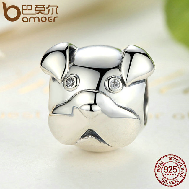 Sterling Silver Lovely Dog Charm