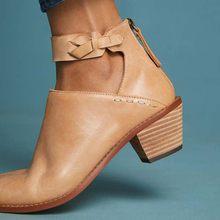 ccbc8289 Las mujeres de gamuza botas diario de tacón grueso cremallera zapatos  transpirables zapatos de mujer zapatos