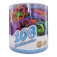 108 pièces Biscuit moule Animal numéro coeur fleur dinosaure rond étoile lettre forme pain d'épice Cookie timbre Cutter ensemble