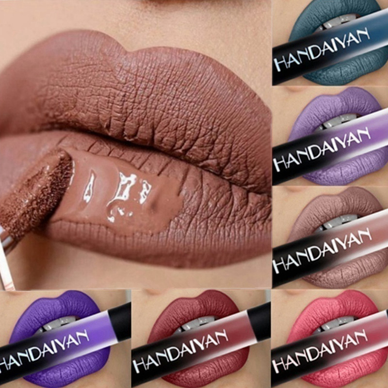 12 Color Matte Lipstick Waterproof Long Lasting