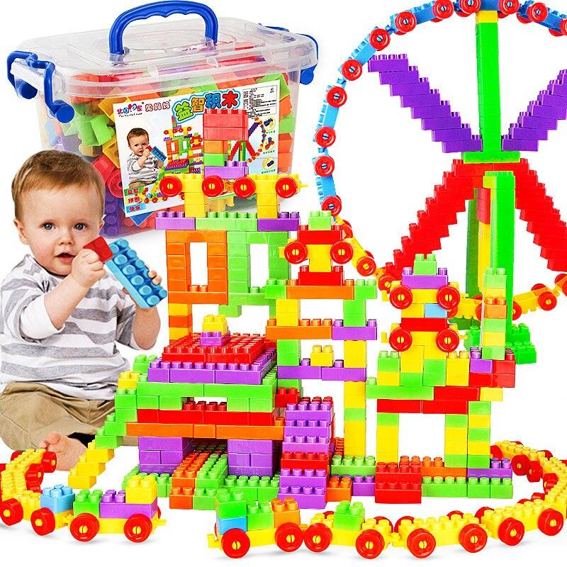 AIFHI 80pcs/210pcs DIY Big Size Building Blocks Splicing Blocks Castle