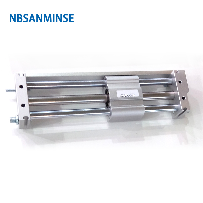CY1S 15mm Bore Air Slide Type Cylinder Pneumatic Magnetically SMC Type Compress Air Parts Coupled Rodless Cylinder Parts Sanmin