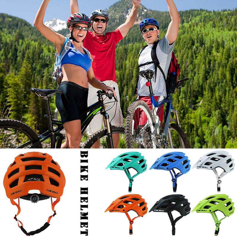 CAIRBULL 280g 6 Color TRAIL XC Adjustable Visor Road Bicycle Helmet MTB Cycling Bike Mountain Sports In mold Helmet