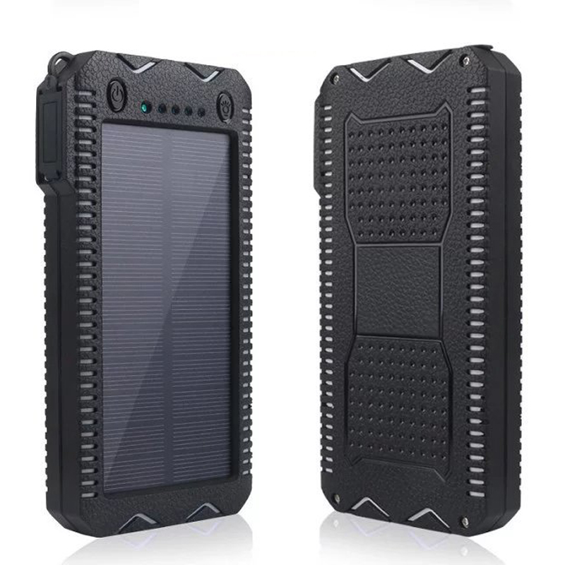 High Quality 4 In 1 12000mAh Portable Solar Charger Panel Emergency Flashlight USB Power Bank Cigar Lighter Compass cgig q7 high quality 12000mah power bank w lcd display led torch for iphone samsung more