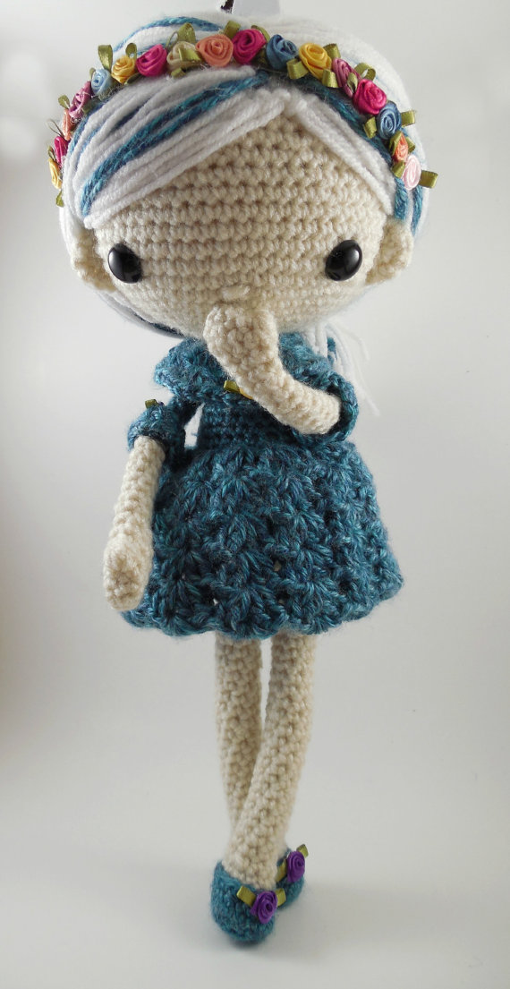 Amigurumi Doll Crochet Rattles Girls Baby Rattle