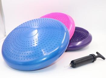Wholesale inflatable Balance plate Yoga balance pad Yoga massage air cushion Integrated Fitness inflatable soft Yoga