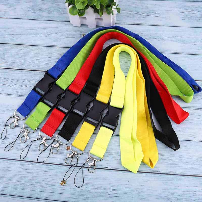 Mobile Phone Neck Straps Colorful  Blank Plain Key Lanyard Badge ID Holders
