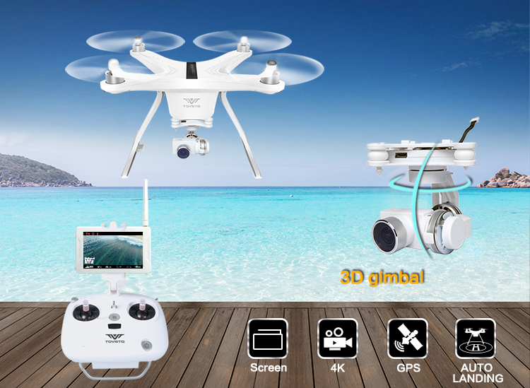 Professional rc Drone 4K HD Camera 3 Axis Gimbal 8 channels 5.8GHz FPV monitor racing rc Quadcopter drone vs phantom 2 3 dobby