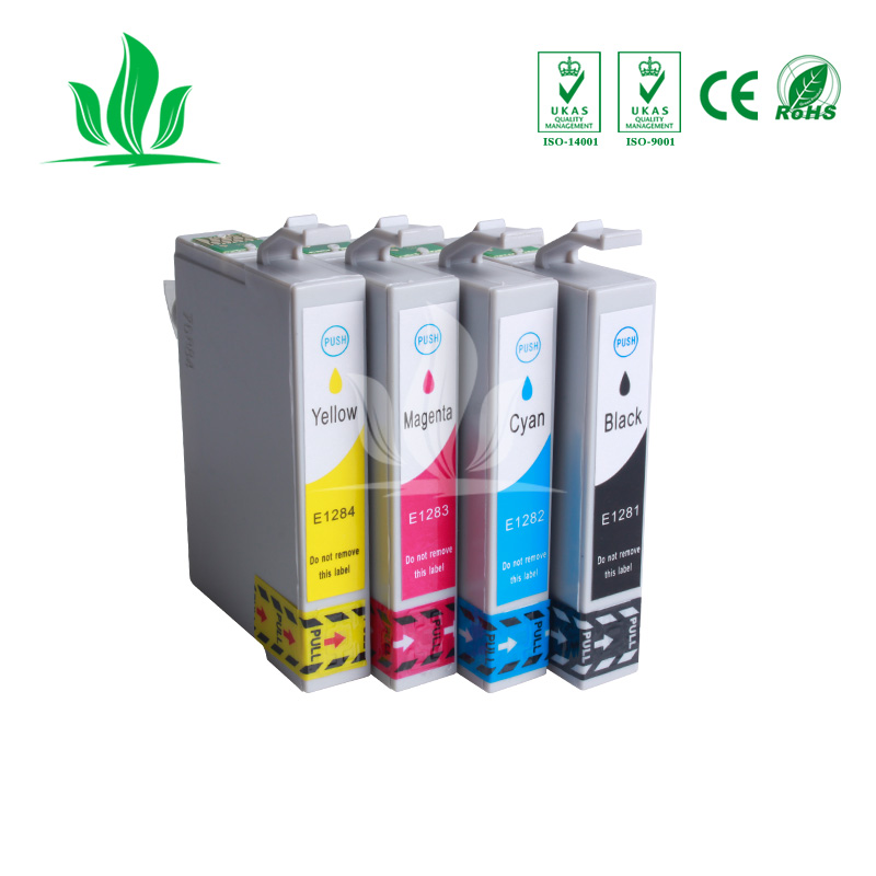 4 X T1281 compatible ink cartridge For EPSON Stylus S22 SX125 SX130 SX230 SX235W SX420W SX425W SX430W SX435W Printer