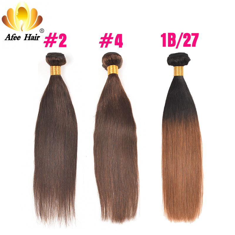 Ali Afee שיער הברזילאי סטרייט שיער אריגה - שיער אנושי שחור