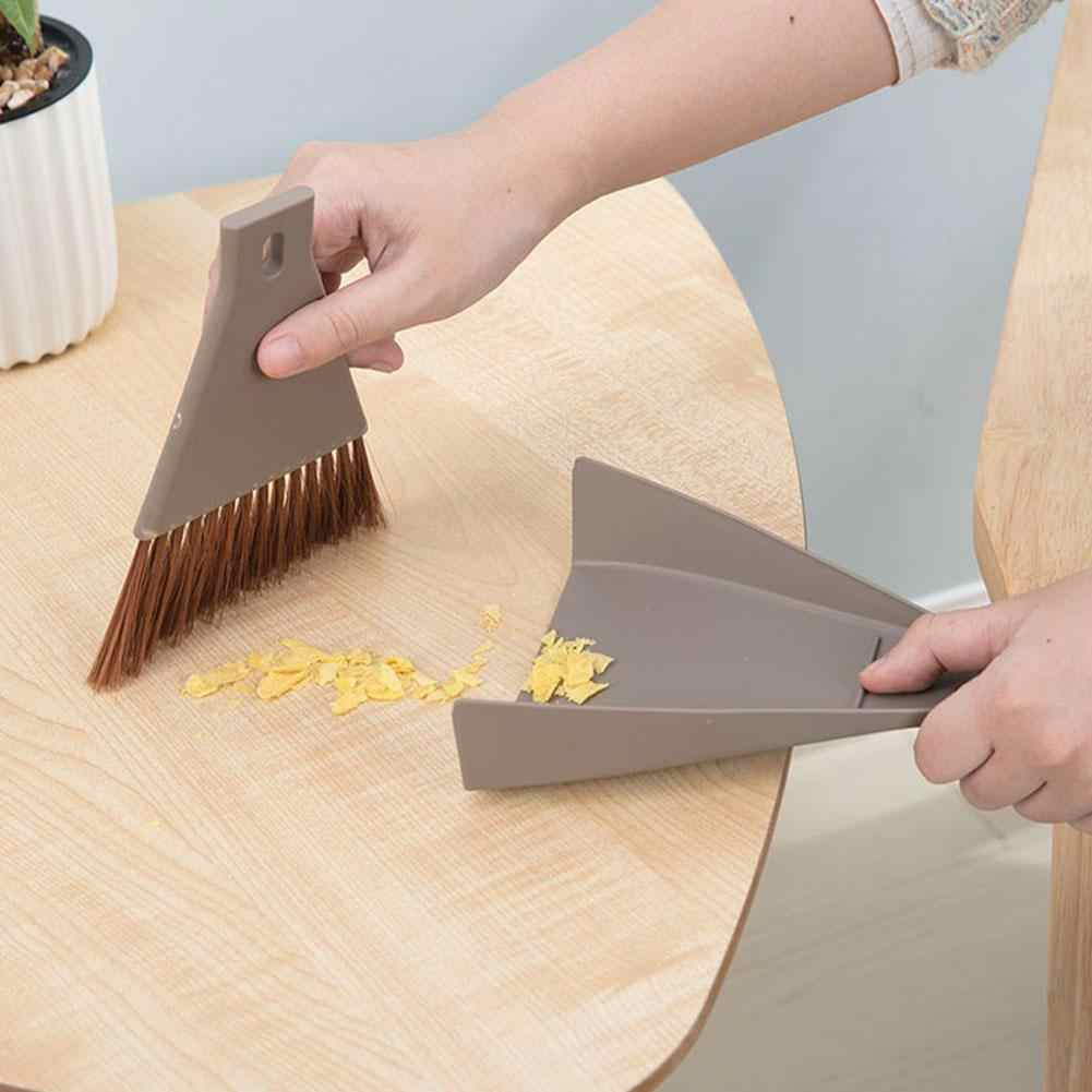 Multi-purpose Window Door Brush Cleaning Keyboard  Dustpan Desktop Mini Broom Set Household Sweeping Corner Brush