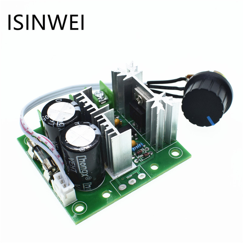 цена на CCMHC DC 12V ~40V 400W 10A Adjustable DC Motor Speed Controller PWM Controller 13 kHz Adjustable Drive Module