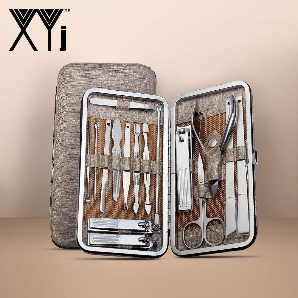 XYj Stainless Steel Nail Art Tools Set Nail Clipper Kit Manicure Set Beauty tools Tweezer Scissors Ear Pick Pedicure Knife Sets