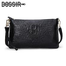 Women's Handbags Split Leather Fashion Alligator Pattern Party Evening Clutch Bag Ladies Leather Women Messenger Shoulder Bags