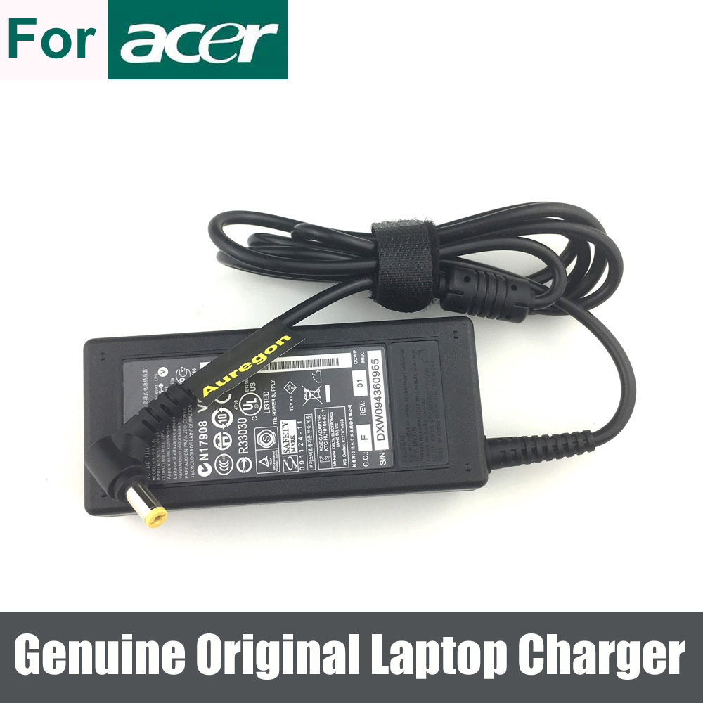 65W Original Adapter Battery Charger Cord for Acer Aspire