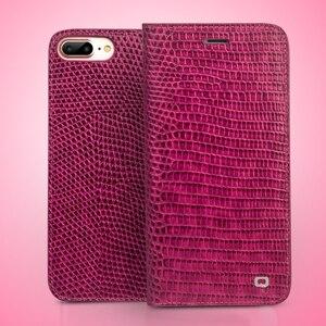 Image 5 - QIALINO Genuine Leather Phone Trường Hợp cho iPhone 8 Thời Trang Handmade Khe Cắm thẻ Phụ Nữ Sang Trọng Lật Bìa cho iPhone8 Cộng Với 4.7/5.5 inch