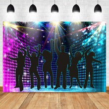 Mehofoto Disco Ballroom Stage Party Photography Backdrops Dancing to The Music background photography photo backdrop