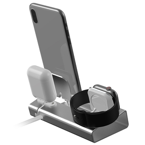 Image 4 - NEW Aluminum 3 in 1 Charging Dock For iPhone X XR XS Max 8 7 Apple Watch Charger Holder For iWatch Mount Stand Dock Station