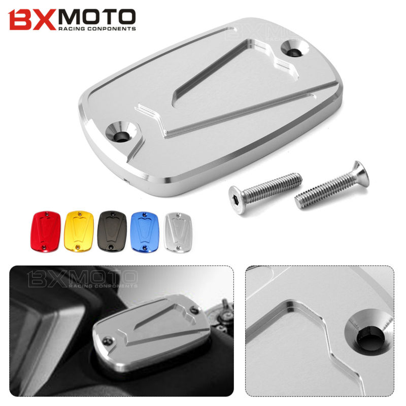 Motorcycle parts CNC Aluminum front Brake Fluid Reservoir Cap Cover For Yamaha T-max 500 2008-2011 Tmax 530 DX SX 2012-2017 2018 d09 aluminum alloy bicycle cnc front fork washer blue white 28 6mm