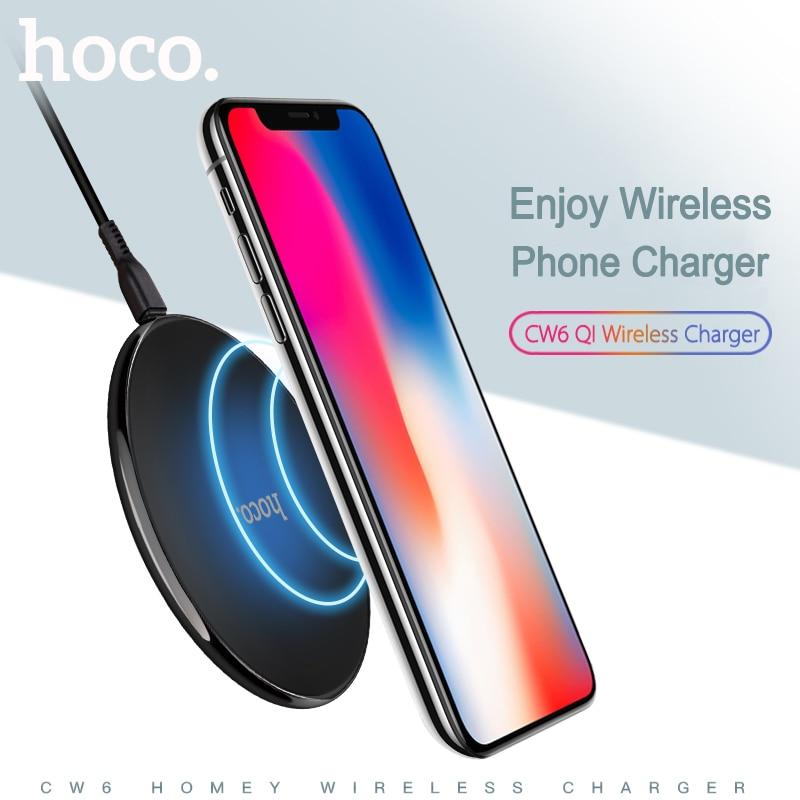 HOCO Qi Sans Fil Chargeur USB Charge Ultra Mince Tapis De Charge Pour iPhone X 8 Plus Samsung Galaxy S8 Plus S6 S7 Bord Note 5 8 P9000
