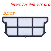 3pcs Original Filters For Ilife V7s Pro For ILIFE V7S V7 V7s Pro Robot Vacuum Cleaner