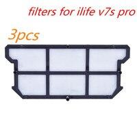 3pcs Original Filters For Ilife V7s Pro For ILIFE V7S V7 V7s Pro Robot Vacuum Cleaner