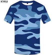 Funny T shirts Blue Camouflage T-shirt Men Camo Tshirt Printed Military Shirt Print Harajuku T-shirts 3d Gothic Tshirts Casual
