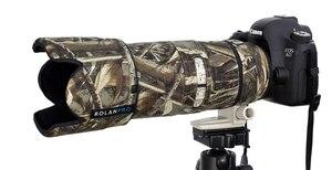 Image 3 - Rolanpro lente camuflagem casaco capa de chuva para canon ef 70 200mm f2.8 l é ii usm lente proteção luva armas caso saco ao ar livre