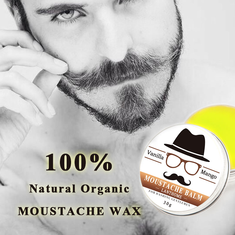 30G Gift Natural Beard Oil Conditioner Beard Balm for Beard Growth and Organic Moustache Wax for Beard Styling 4