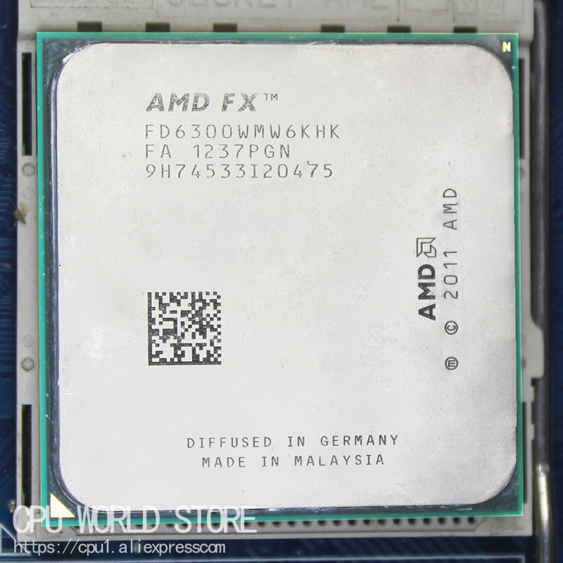 AMD FX 6300 AM3+ 3.5GHz/8MB/95W FX serial pieces FX-6300 Six Core CPU processor working 100% image