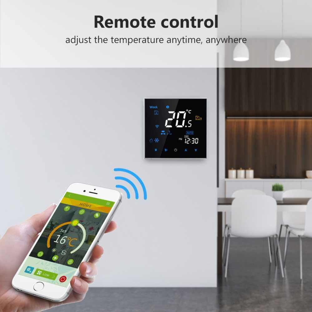 WiFi smart Thermostat Programmable Air Conditioning Two or Four Pipe temperature Control Alexa Google Voice Control Smart life